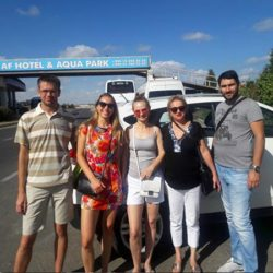 Tourists From Russia. AfHotel Transfer
