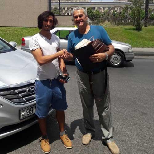 Mr. Əhməd Əli (BƏƏ) / Car hire Baku from RentExpress / прокат авто в Баку / Arenda masinlar