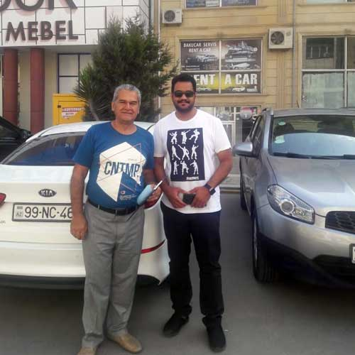 Mr.Mohammed Al Thafar (Saudi Arabia) / Car hire Baku from RentExpress / прокат авто в Баку / Arenda masinlar