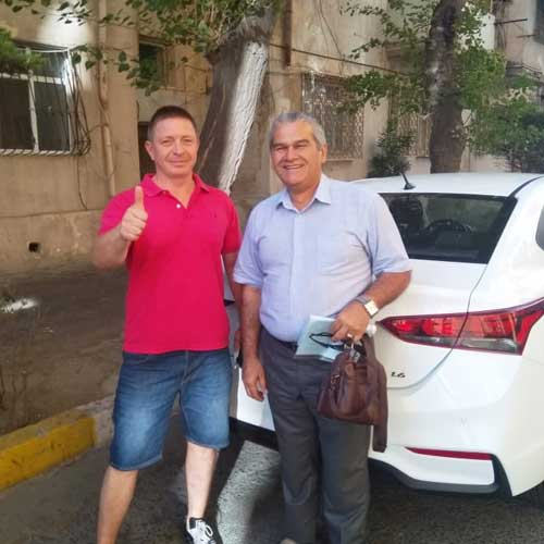 mr. Vladimir Ogoltsov (Russia) / Car hire Baku from RentExpress / прокат авто в Баку / Arenda masinlar